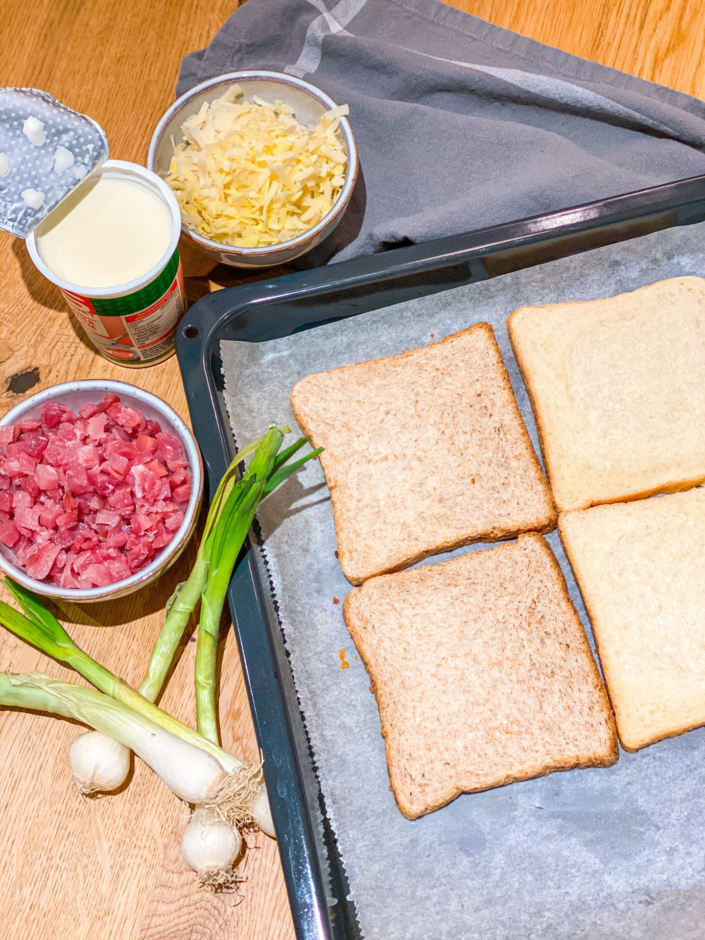 FOOD ¦ Flammkuchen Toast - schnelle Feierabendküche 3