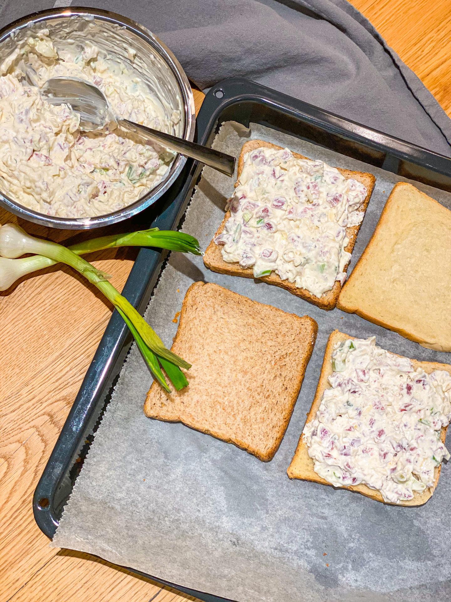 FOOD ¦ Flammkuchen Toast - schnelle Feierabendküche 2